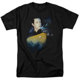 Star Trek Data 25th Adult 18/1 T-Shirt Black