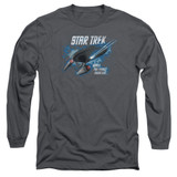 Star Trek The Final Frontier Adult Long Sleeve T-Shirt Charcoal