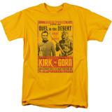 Star Trek Duel In The Desert Adult 18/1 T-Shirt Gold