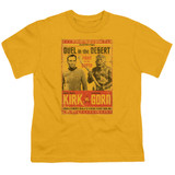 Star Trek Duel In The Desert Youth T-Shirt Gold