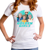 Golden Girls In Action Junior Women's Crew T-Shirt