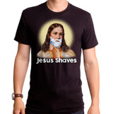 Jesus Shaves Adult T-Shirt