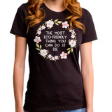 Eco-Friendly Junior Women's Crew T-Shirt