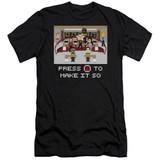 Star Trek Make It So Pixel Adult 30/1 T-Shirt Black