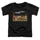 Star Trek Tng Trexel Crew Toddler T-Shirt Black