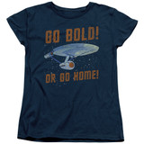 Star Trek Go Bold Women's T-Shirt Navy