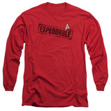 Star Trek Expendable Adult Long Sleeve T-Shirt Red