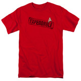 Star Trek Expendable Adult T-Shirt Red