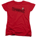 Star Trek Expendable Women's T-Shirt Red