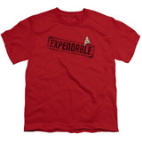 Star Trek Expendable Youth T-Shirt Red