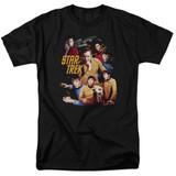 Star Trek At The Controls Adult T-Shirt Black