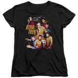 Star Trek At The Controls Women's T-Shirt Black