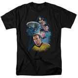 Star Trek Among The Stars Adult T-Shirt Black