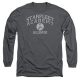 Star Trek Alumni Adult Long Sleeve T-Shirt Charcoal