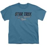 Star Trek Entreprise Logo Youth T-Shirt Slate