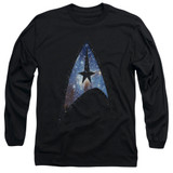 Star Trek Galactic Shield Adult Long Sleeve T-Shirt Black
