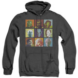 Star Trek Alien Squares Adult Heather Hoodie Sweatshirt Black