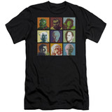 Star Trek Alien Squares Adult 30/1 T-Shirt Black