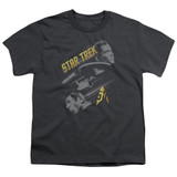 Star Trek 50 Year Frontier Youth T-Shirt Charcoal