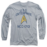 Star Trek Collegiate Arch Adult Long Sleeve T-Shirt Athletic Heather