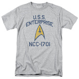 Star Trek Collegiate Arch Adult 18/1 T-Shirt Athletic Heather
