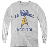 Star Trek Collegiate Arch Youth Long Sleeve T-Shirt Athletic Heather