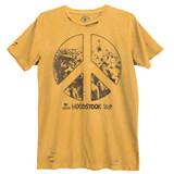 Woodstock Peace Sign Premium Vintage Adult T-Shirt
