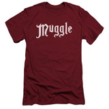 Harry Potter Muggle Adult 30/1 T-Shirt Cardinal
