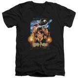Harry Potter Movie Poster Adult V-Neck T-Shirt Black