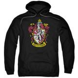 Harry Potter Gryffindor Crest Adult Pullover Hoodie Sweatshirt Black