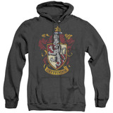 Harry Potter Gryffindor Crest Adult Heather Hoodie Sweatshirt Black