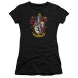 Harry Potter Gryffindor Crest Junior Women's T-Shirt Black