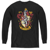 Harry Potter Gryffindor Crest Youth Long Sleeve T-Shirt Black
