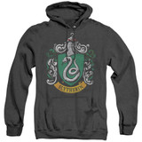 Harry Potter Slytherin Crest Adult Heather Hoodie Sweatshirt Black