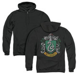 Harry Potter Slytherin Crest (Back Print) Adult Zipper Hoodie Sweatshirt Black