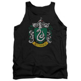 Harry Potter Slytherin Crest Adult Tank Top T-Shirt Black