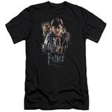 Harry Potter Deathly Hollows Cast Premium Adult 30/1 T-Shirt Black