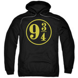 Harry Potter 9 3/4 Adult Pullover Hoodie Sweatshirt Black