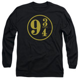 Harry Potter 9 3/4 Adult Long Sleeve T-Shirt Black