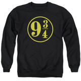 Harry Potter 9 3/4 Adult Crewneck Sweatshirt Black