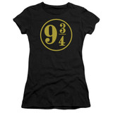 Harry Potter 9 3/4 Junior Women's T-Shirt Black