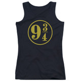Harry Potter 9 3/4 Junior Women's Tank Top T-Shirt Black