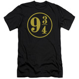 Harry Potter 9 3/4 Premium Adult 30/1 T-Shirt Black