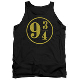 Harry Potter 9 3/4 Adult Tank Top T-Shirt Black