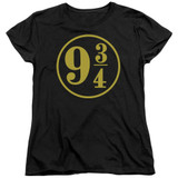 Harry Potter 9 3/4 Women's T-Shirt Black