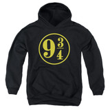 Harry Potter 9 3/4 Youth Pullover Hoodie Sweatshirt Black