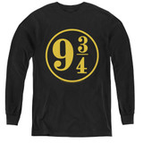 Harry Potter 9 3/4 Youth Long Sleeve T-Shirt Black