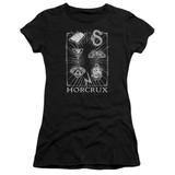 Harry Potter Horcrux Symbols Junior Women's T-Shirt Black