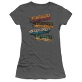 Harry Potter Burnt Banners Junior Women's T-Shirt Charcoal