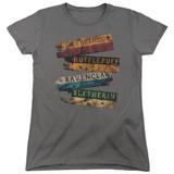 Harry Potter Burnt Banners Women's T-Shirt Charcoal
